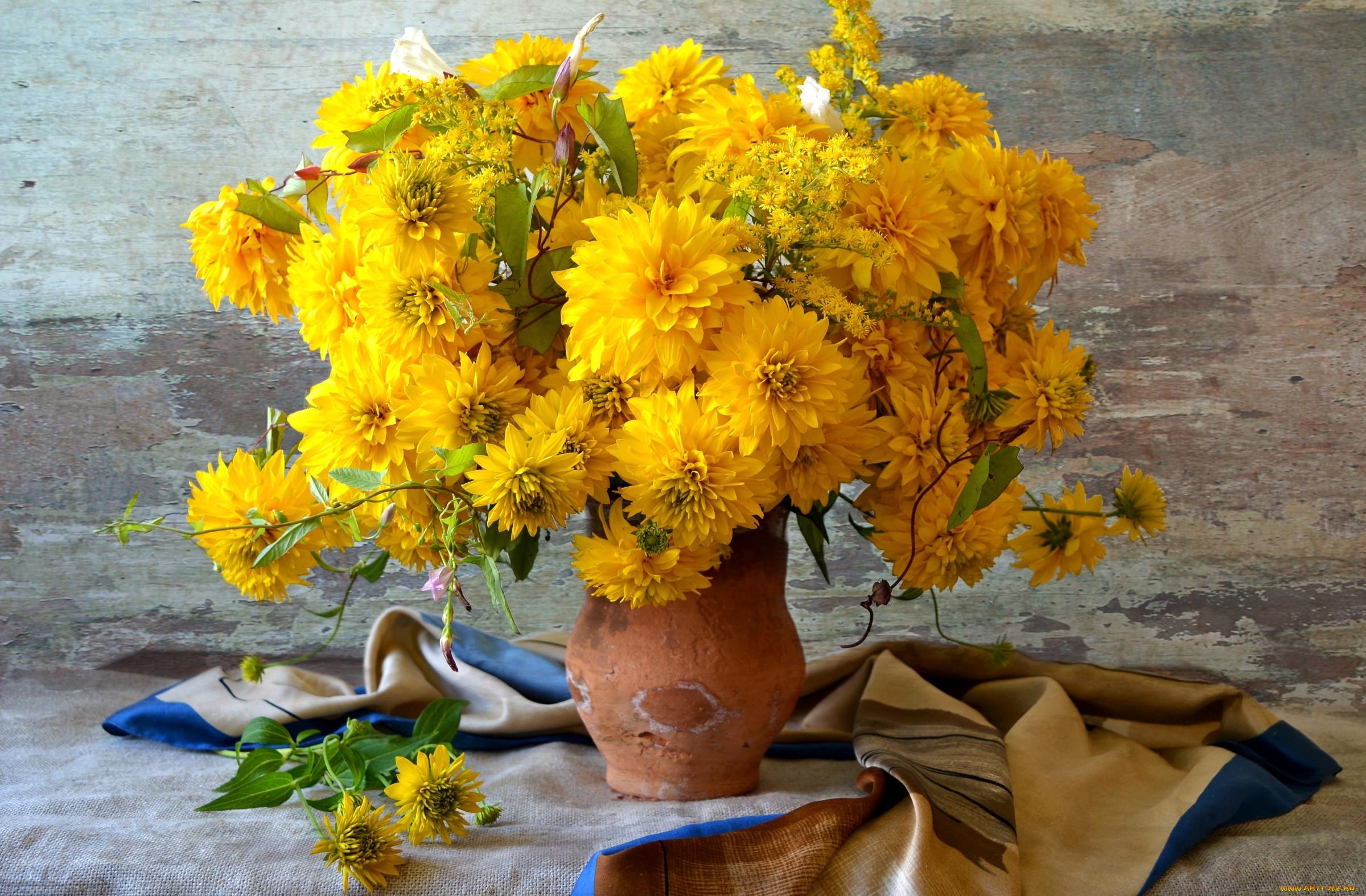 картинка букет осенних цветов готовый отпечаток картинкой